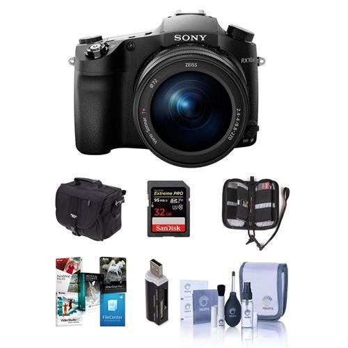 Sony Cyber-Shot DSC-RX10 III Digital Camera, Black - Bundle