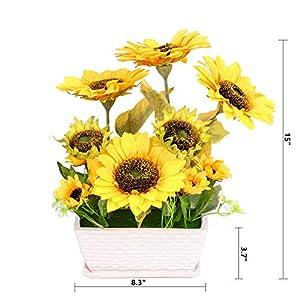 YSZL Artificial Sunflower with Pot 6