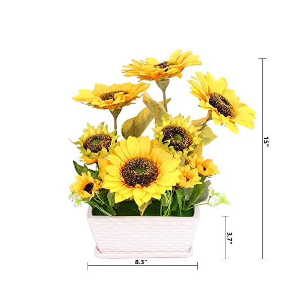 YSZL-Artificial-Sunflower-with-Pot