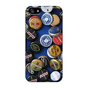 Hard Plastic Iphone 5/5s Cases Back Covers,hot Beer Bottle Caps Cases At Perfect Customized