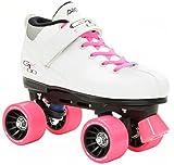 Pacer Mach-5 GTX500 White Quad Roller Skates w/ 2