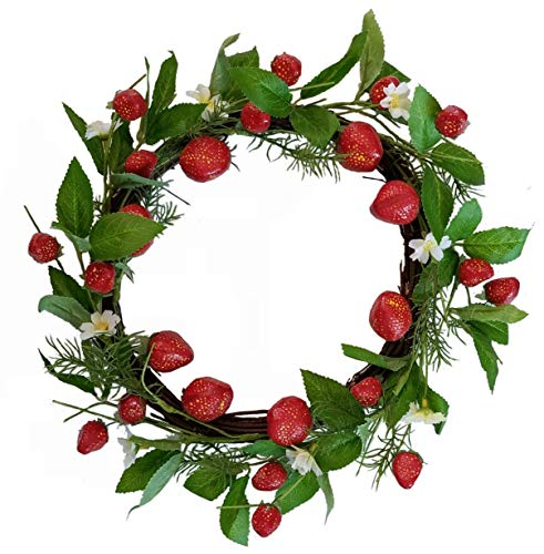 (Homester Strawberry Spring Summer Wreath Candle)