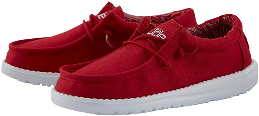 Hey Dude Wally Youth Shoes 1, Red