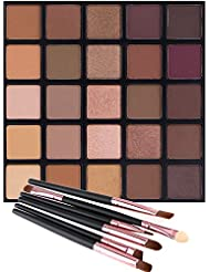 Matte and Shimmer Eyeshadow Palette, Vodisa 25 Smoky...