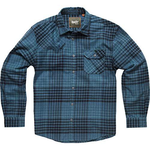 Howler Brothers Harkers Flannel Shirt - Men's Shadow Plaid:Seascape Blue, XXL - Shirt Plaid Shadow