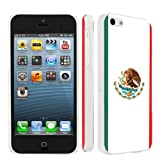 Apple iPhone 5c Ultra Slim Light Weight Clear Plastic Cover Case By SkinGuardz - Mexican Flag