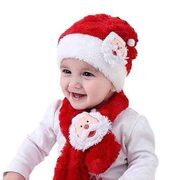 XuBa 2 Unids Bebé Navidad Santa Bufanda de Felpa + Traje de ...