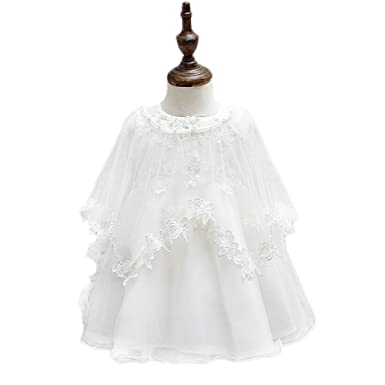 Selene Classical Embroidery Lace Christening Gown Baby Girls Formal Wedding Birthday Party Bridesmaid Dress Baby Baptism Gown