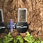 REPTI ZOO Reptile Terrarium Thermometer Hygrometer Digital Display Pet Rearing Box Reptiles Tank Thermometer Hygrometer with Suction Cup 8