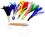 MagBay Lures Cedar Plug + Tuna Feathers - Ultimate Tuna and Albacore Lure Set