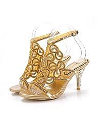 Monie Women's Stiletto Handmade Wedding Heels Rhinestone Bridal Sandals