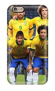 Excellent Design Brazil Team World Cup 2014 Phone Case For Iphone 6 Premium Tpu Case