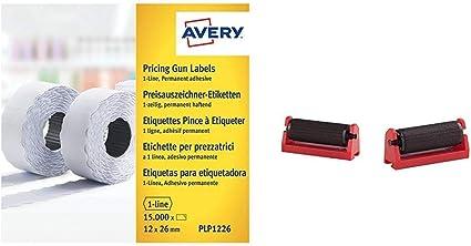 Avery Espa/ña IRAV5 Pack de 5 rodillos de tinta para etiquetadoras HL 1//8