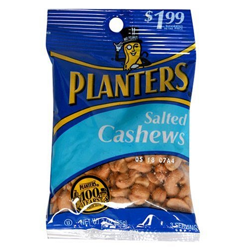 029000074361 - Planters Cashews, Salted, 3-Ounce Bags (Pack of 12) carousel main 0