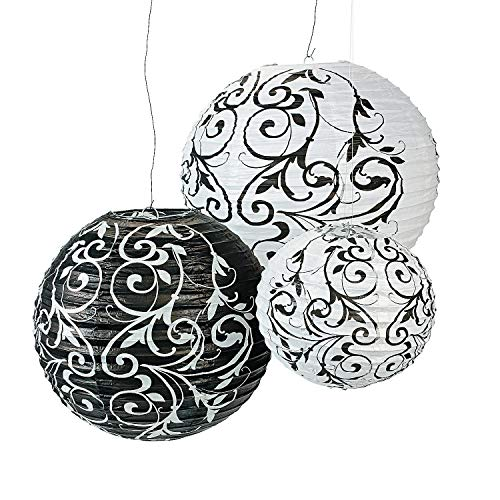Lantern Black English - Fun Express Black and White Paper Lanterns