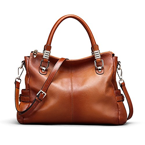 Kattee Womens Genuine Leather Handbag Urban Style Satchel Tote Bag