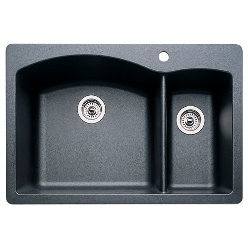 Blanco 440199 Diamond 1-1/2 Bowl Kitchen Sink, Anthracite Finish