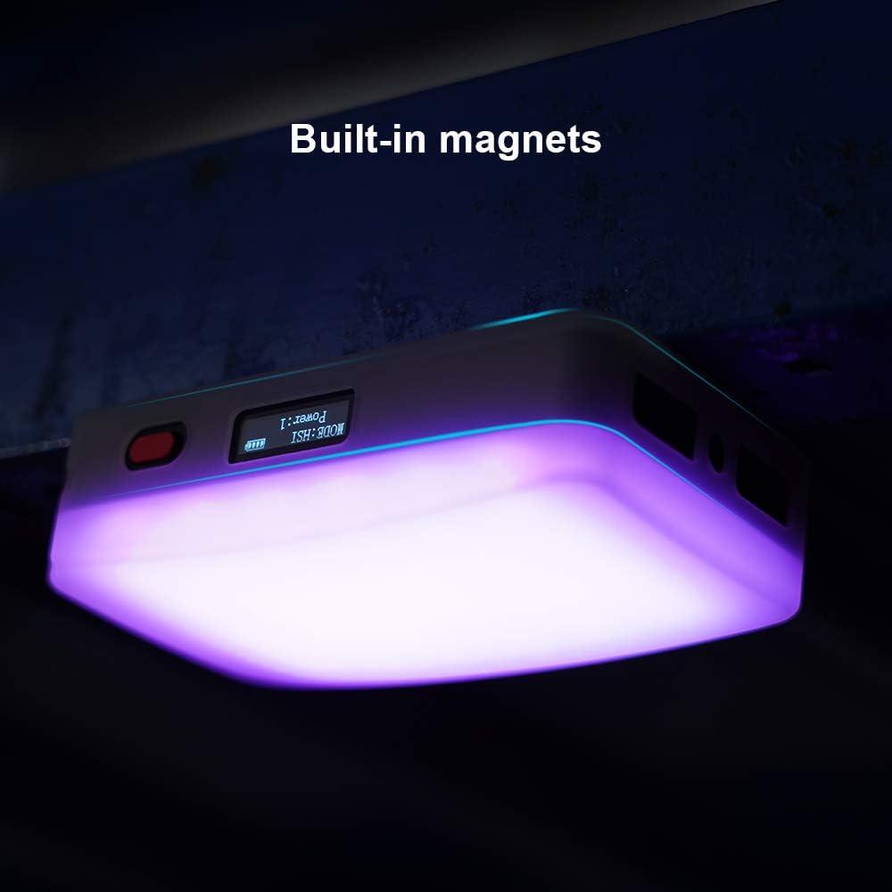 APP-Fernbedienung LAOFAS Rainbow Sophomore RGB LED-Videoleuchte 2500K-8500K einstellbar CRI95 + mit Diffusor /& Mini-Stativ /& Kaltschuhadapter eingebaute Magnete OLED-Display mit Einstellrad