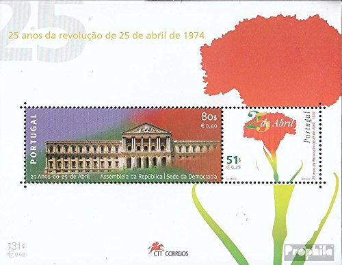 Revolution 1999 - Portugal Block149 (Complete.Issue.) 1999 Carnation Revolution (Stamps for Collectors) Plants