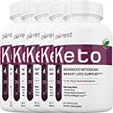 Purest Keto - Advanced Ketosis Weight Loss - Premium Keto Diet Pills - Burn Fat for Energy not Carbs (5 Month Supply)