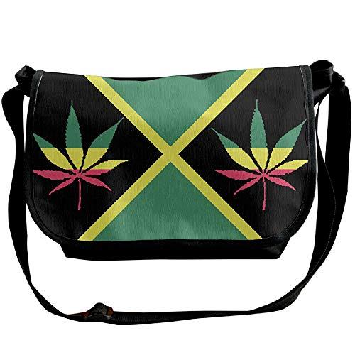 Jamaica Flag Single Travel Bag Black Shoulder Handbags Plant Designer Fashion Weed Body Cross Of Men's Bags 44r875wq