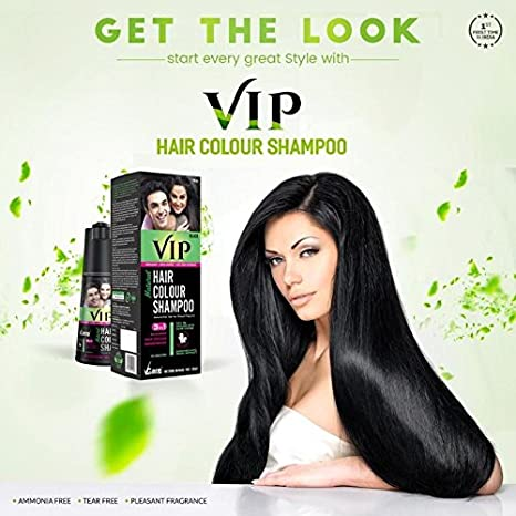 Buy Vcare Vip Hair Colour Shampoo- 180Gm (Black) Online at Low ...