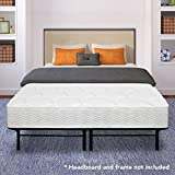 Best Price Mattress 8″ Contour Support Pocketed Coil Mattress and 14″ Dual-Use Steel Bed Frame/Foundation Set, Full