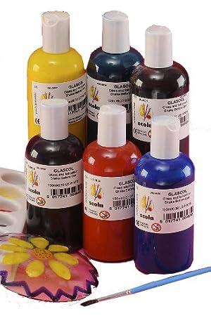 Scola GSL150/6/A - Tarros de pintura para cristal (6 x 150