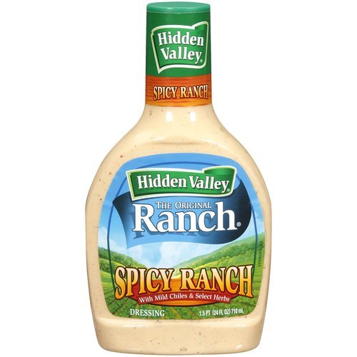 Hidden Valley Ranch, Spicy Ranch Dressing, 24oz Squeeze Bottle (Pack of 3)
