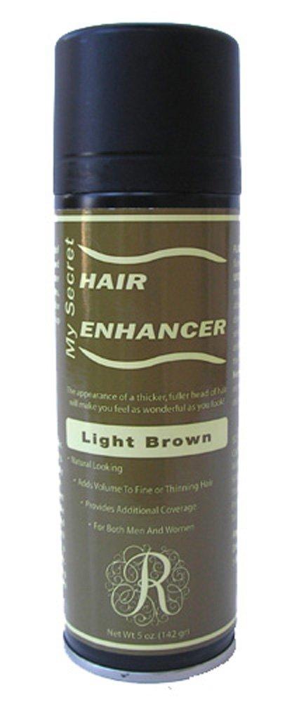 12 My Secret Hair Enhancer Spray 5 oz. with Free Travel Shampoo (Light Brown)