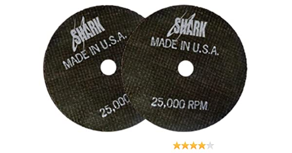 3-Inch by 1//16-Inch by 3//8-Inch 100-Pack Shark 13215 Shark Cut-Off Wheel