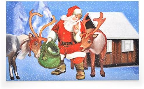 Stephan Roberts STRB-15798-12 Holiday Door Mats, Secret Santa