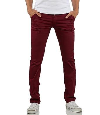 meilleure sélection détaillant en ligne magasin Rerock - Pantalon chino homme Chino 3334 rouge bordeaux - 38 ...