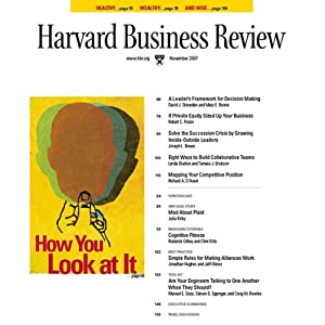 Harvard Business Review, November 2007 Periodical