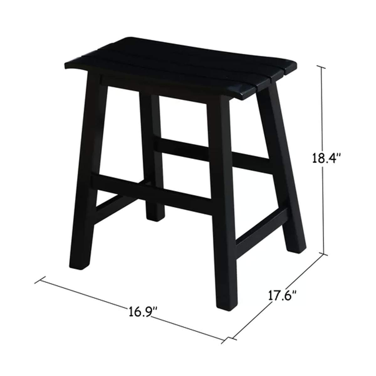 Amazon com j h wooden relaxing counter seat furniture in black finish kitchen dining