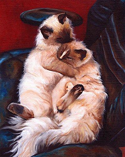 Ragdoll Cats Signed Dog Art Print ()