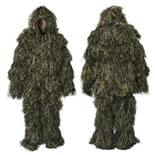 - BenefitUSA Outdoor Hunting Camo Suit Ghillie Suit Sport Woodland Camouflage Clothing