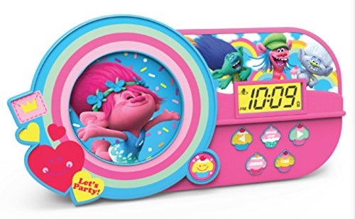 Trolls Best Kids Alarm Clock - Music and Night Light