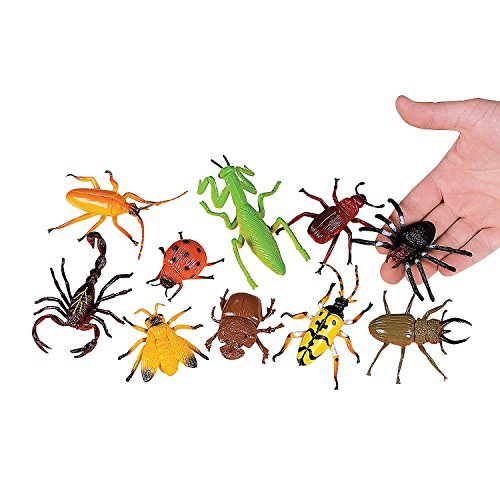 Fun Express - Just Buggy! Bugs & Spiders - 10pc - Toys - Character Toys - Action Figures - 10 Pieces