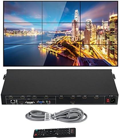 B07C24MKQ2 Happybuy 3x3 3x2 2x2 3x1 Video Wall Controller Splicer HDMI DVI VGA 1080P Video Wall Processor Splitter with 1 HDMI Input and 9 HDMI Outputs Matrix Switcher for Perfect Visual Experience 510sYRwSI-L.