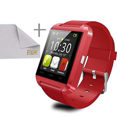 efoshm-safe-sport-v8-smart-watch-for-ios-and-android-smart-phones-tablets-and-accessories-red