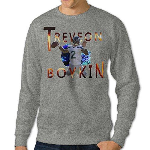 - VINCEIE Men's Treveon #16 Boykin Long Sleeve Hoodies Ash 3X