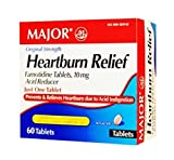 Major Pharmaceuticals Major Heartburn Relief TABS FAMOTIDINE-10 MG Pink 60 Tablets UPC 309045529522