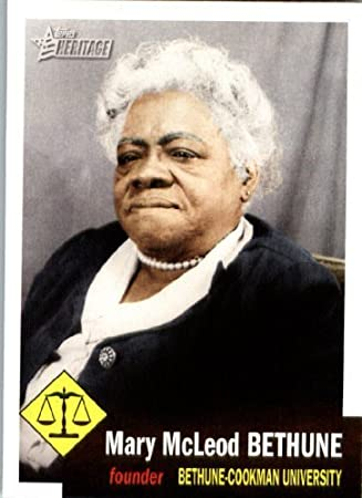 2009 Topps American Heritage Heroes Trading Card #27 Mary McLeod ...
