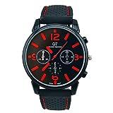 Tenworld Gifts Men Fashion Stainless Steel Sport Cool Quartz Wrist Analog Watch