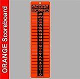 SCOREBOARD, Washers, Cornhole, Horseshoes, Bocce Ball~LARGE Orange 6x23