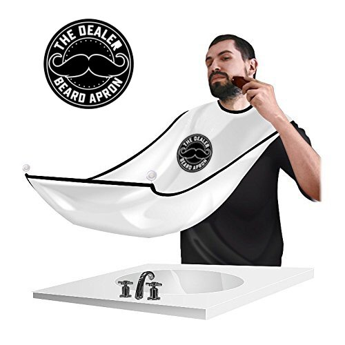 Beard Apron by The Dealer Bib Cape Catches Hair Clipping While Shaving or Grooming, Stops Clogging Sink Easy Clean Up after Trim (Sink Insert)
