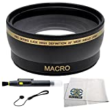 Wide Angle Lens Kit for CANON Rebel (T4i T3i T3 T2 T2i T1i XT XTi XSi XS), CANON EOS (1100D 650D 600D 550D 500D 450D 400D 350D 300D 60D 7D) Which have any of these (18-55mm, 55-250mm, 75-300mm, 50mm 1.4 , 55-200mm. 70-300mm) Canon Lenses. Includes: 0.45X Super Wide Angle (with Macro) High Definition Lens, Lens Cap Keeper, Lens Cleaning Pen & Cleaning Kit.