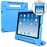 Cooper Dynamo Shock Proof Kids case Compatible with iPad Pro 12.9 | Heavy Duty Kidproof Cover for Kids | Girls, Boys, School | Kid Friendly Handle & Stand, Screen Protector | Apple A1584 A1652 (Blue)