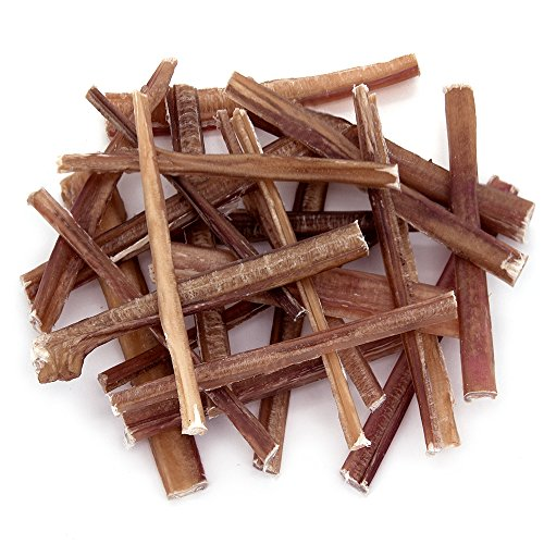 GigaBite 6 Inch Slim Odor-Free Bully Sticks (25 Pack) - USDA & FDA Certified All Natural, Free Range Beef Pizzle Dog Treat - By Best Pet Supplies